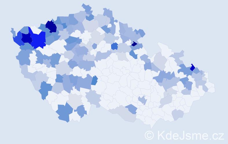Jméno: 'Gisela', počet výskytů 243 v celé ČR