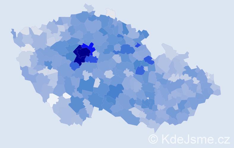 Jméno: 'Jáchym', počet výskytů 4346 v celé ČR