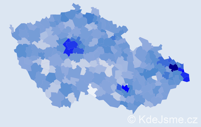Jméno: 'Sebastian', počet výskytů 4694 v celé ČR