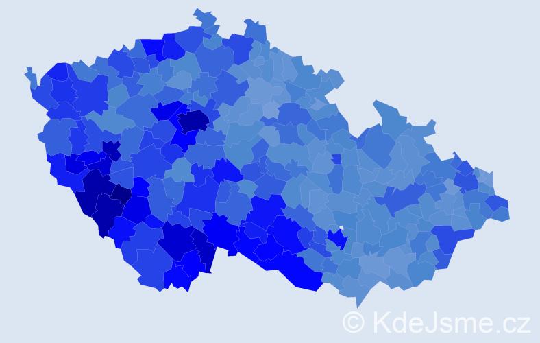 Jméno: 'Karel', počet výskytů 107841 v celé ČR