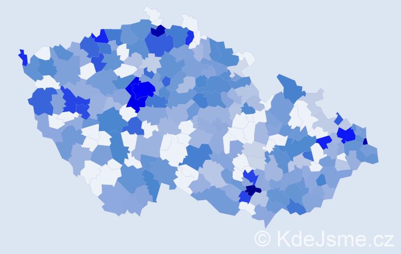Jméno: 'Victoria', počet výskytů 776 v celé ČR