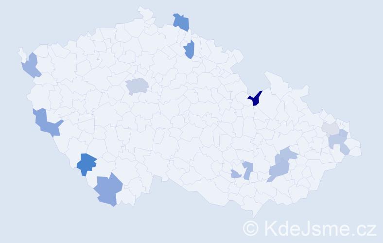 Jméno: 'Khanh Linh', počet výskytů 19 v celé ČR