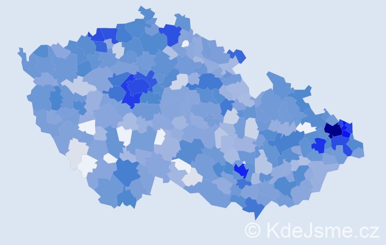 Jméno: 'Alex', počet výskytů 3397 v celé ČR