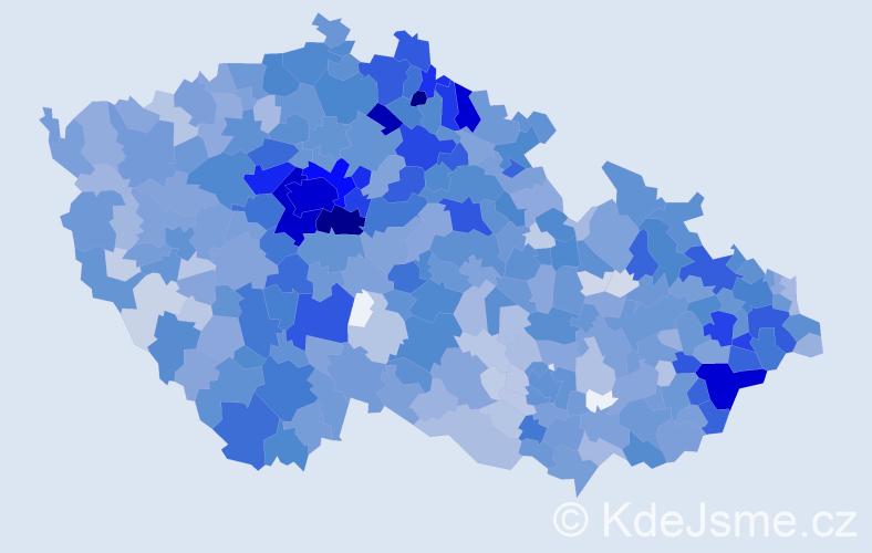 Jméno: 'Rozálie', počet výskytů 2824 v celé ČR