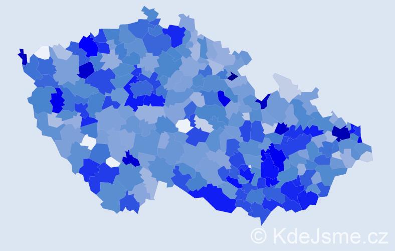 Jméno: 'Liliana', počet výskytů 2214 v celé ČR