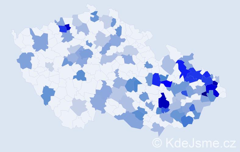 Jméno: 'Horymír', počet výskytů 165 v celé ČR