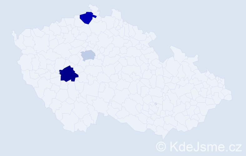Jméno: 'Quang Nhat', počet výskytů 3 v celé ČR