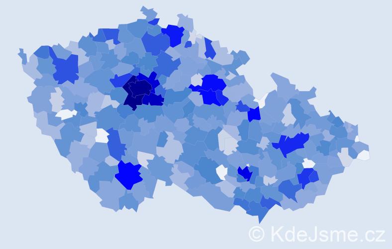 Jméno: 'Ella', počet výskytů 2701 v celé ČR