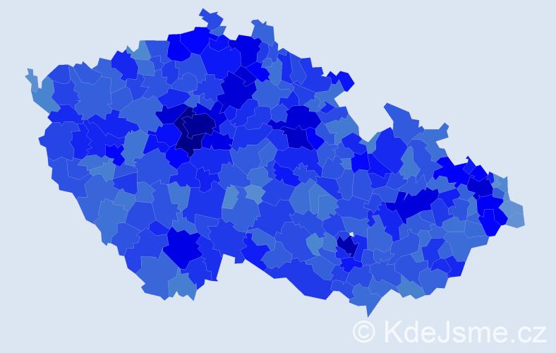 Jméno: 'Eliška', počet výskytů 55557 v celé ČR