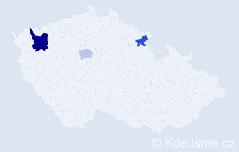 Jméno: 'Quang Thang', počet výskytů 5 v celé ČR
