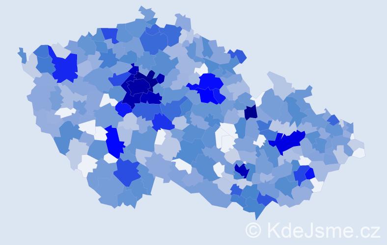 Jméno: 'Ella', počet výskytů 1551 v celé ČR