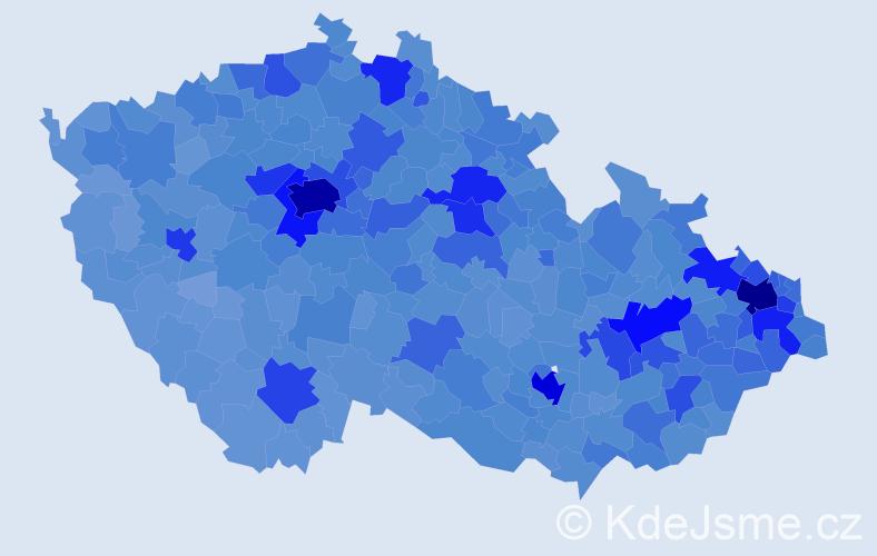 Jméno: 'Tomáš', počet výskytů 169840 v celé ČR