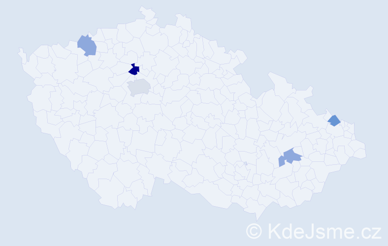 Jméno: 'Fredy', počet výskytů 7 v celé ČR