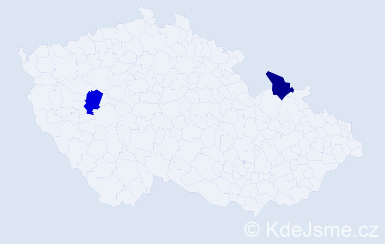 Jméno: 'Ioan Daniel', počet výskytů 2 v celé ČR