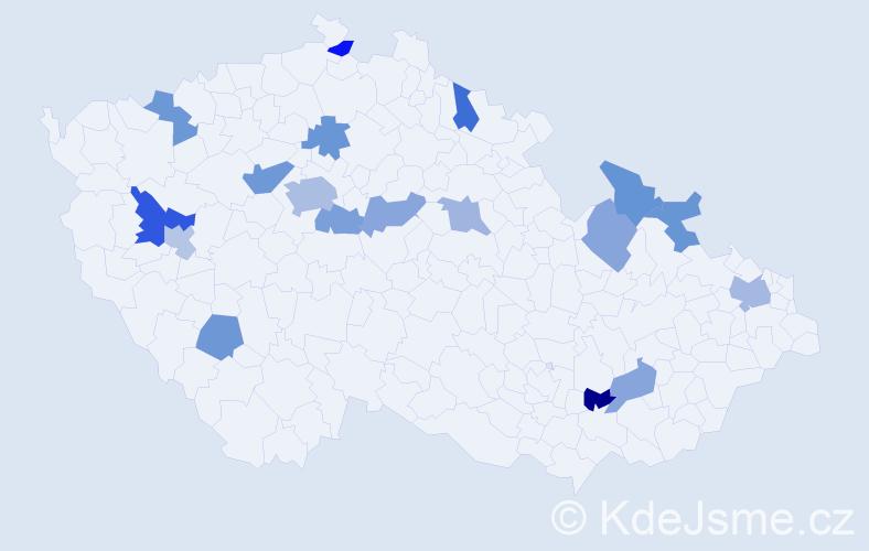 Jméno: 'Veleslav', počet výskytů 26 v celé ČR
