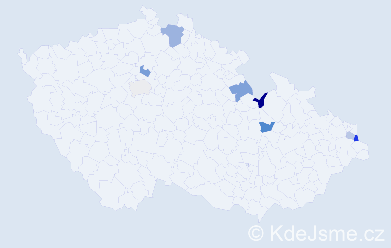 Jméno: 'Přibyslav', počet výskytů 10 v celé ČR