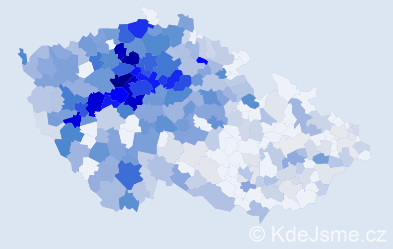 Jméno: 'Věnceslava', počet výskytů 1095 v celé ČR