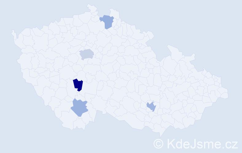 Jméno: 'Kareem', počet výskytů 8 v celé ČR