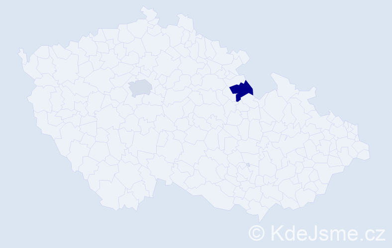 Jméno: 'Šimon Dušan', počet výskytů 2 v celé ČR