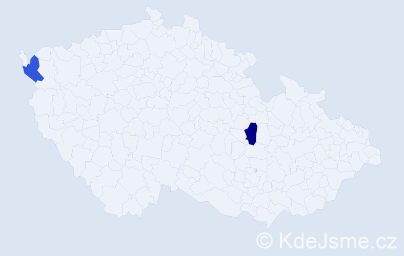 Jméno: 'Quoc Dan', počet výskytů 2 v celé ČR