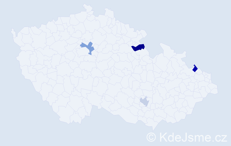 Jméno: 'Šimon David', počet výskytů 4 v celé ČR