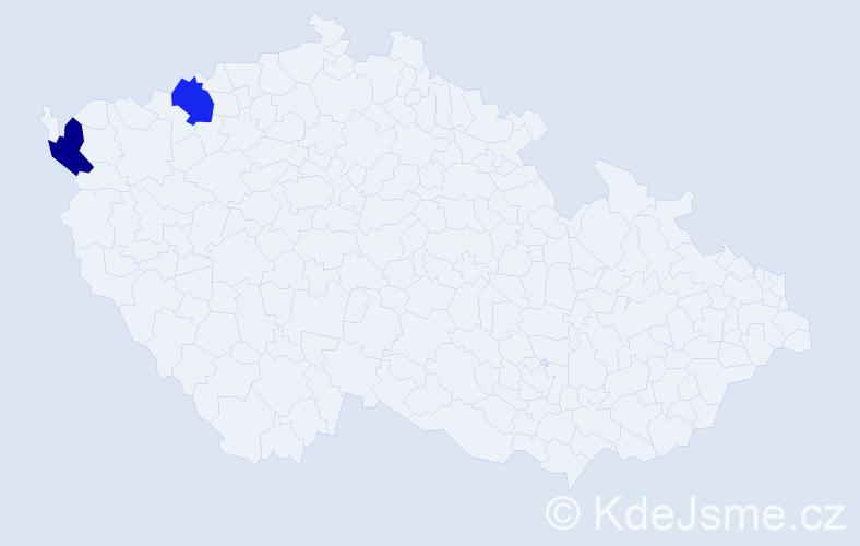 Jméno: 'Quoc An', počet výskytů 2 v celé ČR
