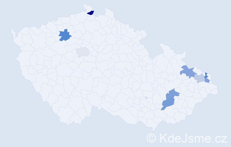 Jméno: 'Lion', počet výskytů 9 v celé ČR