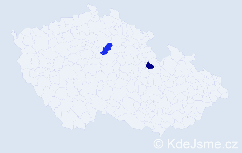 Jméno: 'Šárka Magdalena', počet výskytů 2 v celé ČR