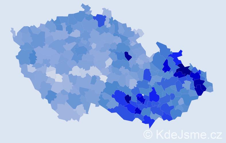 Jméno: 'Vítězslav', počet výskytů 9275 v celé ČR