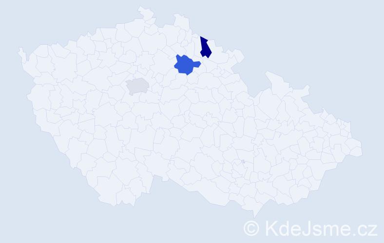 Jméno: 'Štěpán Petr', počet výskytů 3 v celé ČR