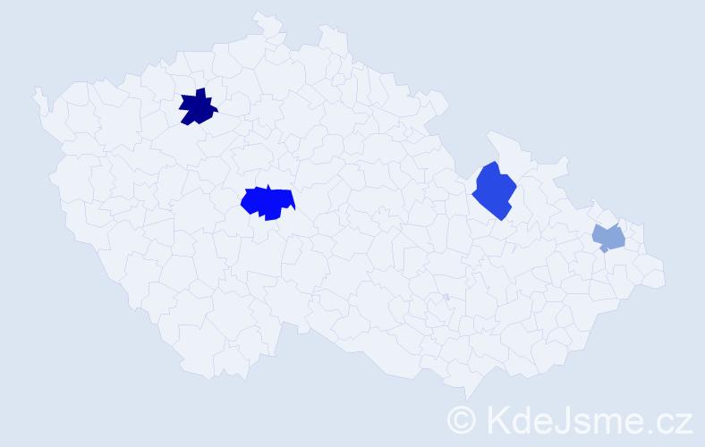 Jméno: 'Šandor', počet výskytů 4 v celé ČR