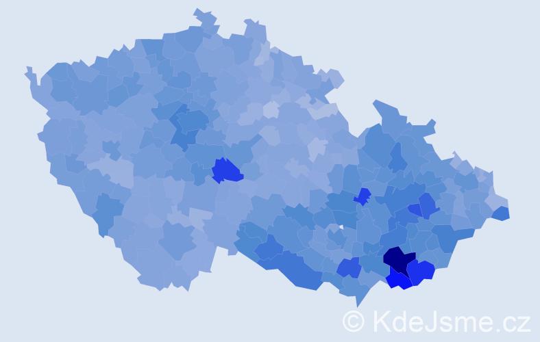 Jméno: 'Antonín', počet výskytů 54998 v celé ČR