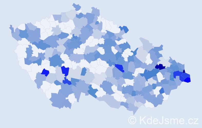 Jméno: 'Damián', počet výskytů 418 v celé ČR