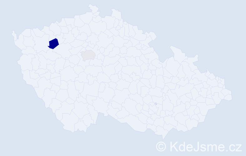 Jméno: 'Šimon Christian', počet výskytů 2 v celé ČR