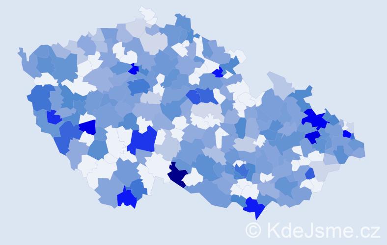 Jméno: 'Lilien', počet výskytů 548 v celé ČR