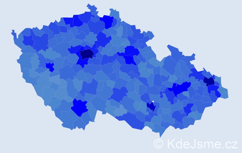 Jméno: 'Petr', počet výskytů 273034 v celé ČR