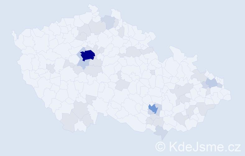Jméno: 'Meda', počet výskytů 86 v celé ČR