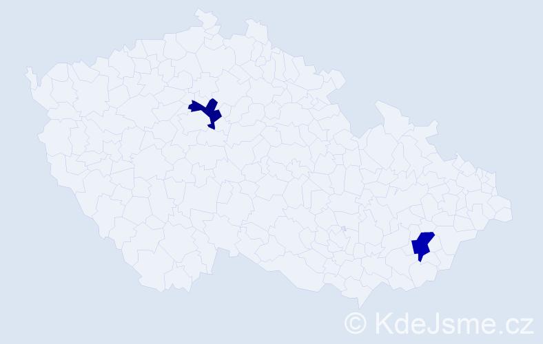 Jméno: 'Šimon Gustav', počet výskytů 2 v celé ČR