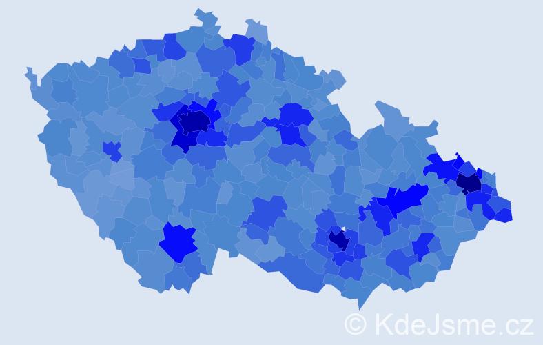 Jméno: 'David', počet výskytů 101311 v celé ČR