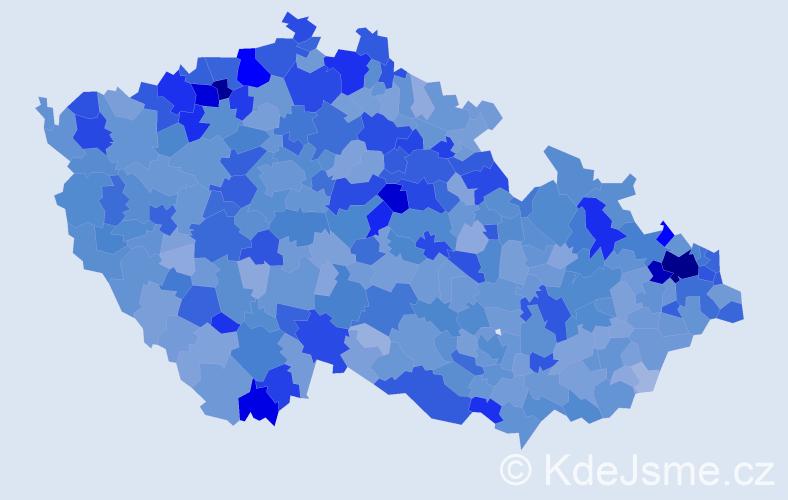 Jméno: 'Vanesa', počet výskytů 5431 v celé ČR