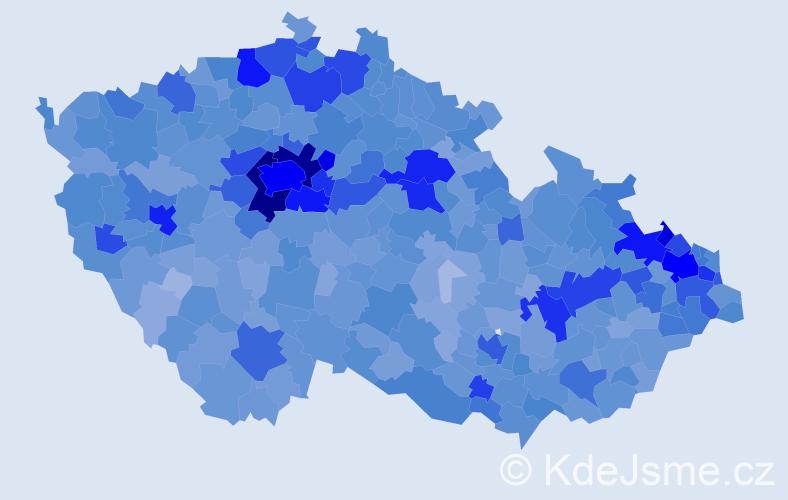 Jméno: 'Viktorie', počet výskytů 13687 v celé ČR