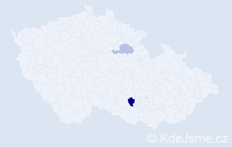 Jméno: 'Štěpán Sebastian', počet výskytů 2 v celé ČR