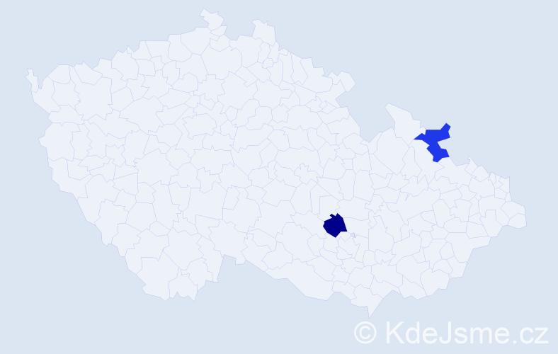Jméno: 'Germania', počet výskytů 2 v celé ČR