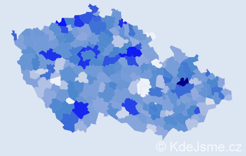 Jméno: 'Nella', počet výskytů 2129 v celé ČR