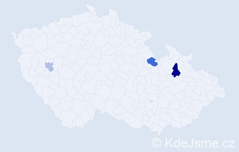 Jméno: 'Lukas John', počet výskytů 3 v celé ČR