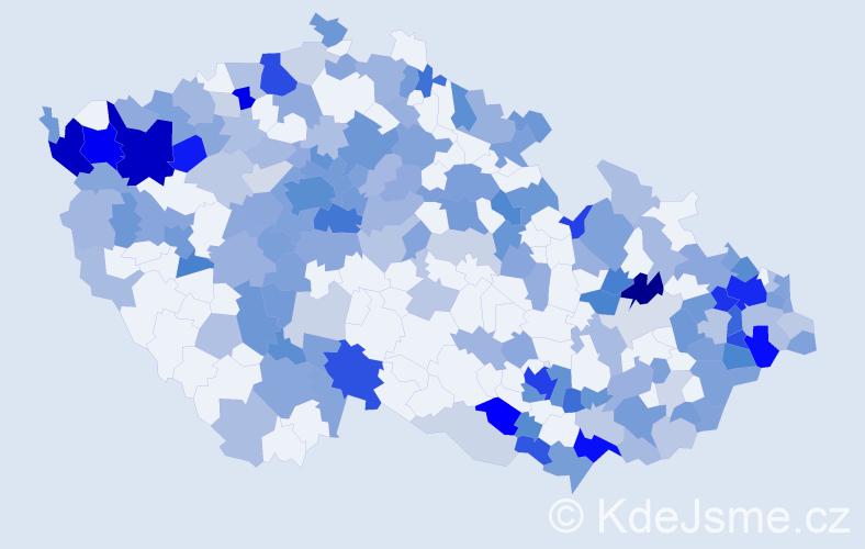 Jméno: 'Vivien', počet výskytů 377 v celé ČR