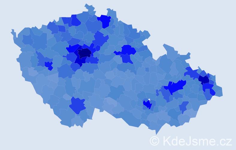 Jméno: 'Kateřina', počet výskytů 115936 v celé ČR