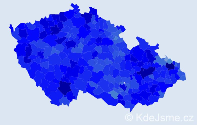 Jméno: 'Miroslav', počet výskytů 153681 v celé ČR