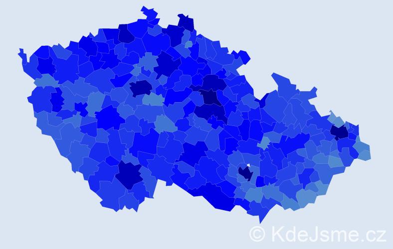 Jméno: 'Milan', počet výskytů 115759 v celé ČR