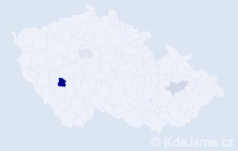 Jméno: 'Šimon Samuel', počet výskytů 6 v celé ČR